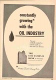 City National Bank 1953 Vintage Ad Oil Industry Houston Texas Growing