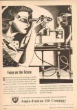 Anglo-Iranian Oil Company 1953 Vintage Ad BP Focus On Future Research