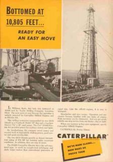 Caterpillar Tractor Company 1953 Vintage Ad Taylor Drilling Lewiston