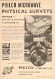 Philco Corp 1953 Vintage Ad Microwave Physical Survey Map Field Aerial