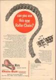 Chain Belt Company 1955 Vintage Ad Oil Field Baldwin Rex Roller New
