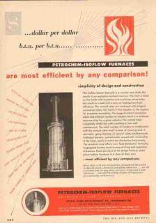 Petro-Chem Development Company 1953 Vintage Ad Oil Efficient Furnaces