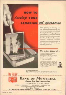 bank of montreal 1953 adams develop canadian oil operation vintage ad