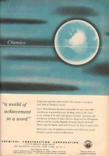 chemical construction corp 1953 chemico world achievement vintage ad