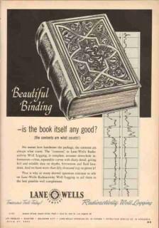 Lane-Wells Company 1953 Vintage Ad Radioactivity Well Logging Binding