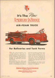 american-la france-foamite corp 1953 air-foam fire truck vintage ad