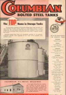 Columbian Steel Tank Company 1953 Vintage Ad Oil Storage Top Name