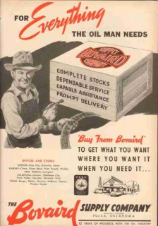 Bovaird Supply Company 1953 Vintage Ad Oil Gas Equipment Everything