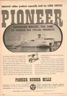 pioneer rubber mills 1953 kosmos norwegian whaler hose belt vintage ad