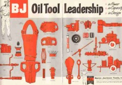 Byron Jackson Tools Inc 1959 Vintage Ad BJ Oil Leadership Power Design