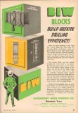 Beaumont Iron Works Company 1953 Vintage Ad BIW Blocks Crown Drilling