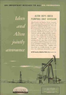 Alten Foundry Machine Works Inc 1953 Vintage Ad Pumping Oil Buys Ideco