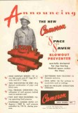 Cameron Iron Works 1953 Vintage Ad Oil Space Saver Blowout Preventer
