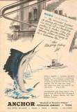 Anchor Petroleum Company 1953 Vintage Ad Oil Memo Fishing Marketing