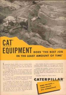 caterpillar tractor company 1953 g e tillman centralia il vintage ad