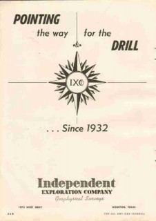Independent Exploration Company 1951 Vintage Ad Oil Drill Pointing