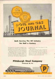 Pittsburgh Steel Company 1952 Vintage Ad Oil Gas Journal Industry