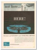 Allied Chemical Dye 1959 Vintage Ad Glycols Ethanolamines Gas