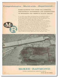 Arthur G McKee Company 1959 Vintage Ad Refinery Raymond International