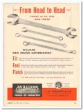 j h williams company 1959 finest fit feel finish wrenches vintage ad