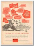 M J Crose Mfg Company 1959 Vintage Ad Pipeline Construction Everything
