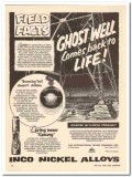 International Nickel Company 1959 Vintage Ad Ghost Well Comes To Life