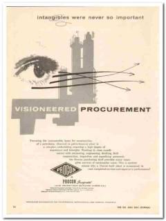 Procon Inc 1959 Vintage Ad Petrochemical Plant Visioneered Procurement