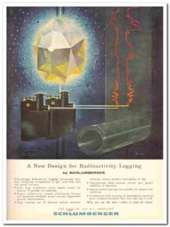 Schlumberger Well Surveying Corp 1959 Vintage Ad Radioactivity Logging