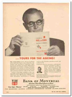 bank of montreal 1959 manager john a baines guide gas oil vintage ad