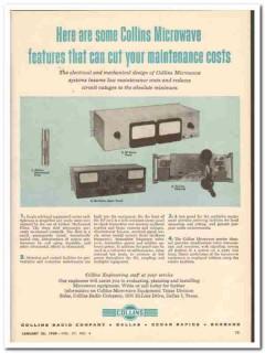 collins radio company 1959 microwave cut maintenance costs vintage ad