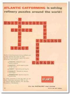 Atlantic Refining Company 1959 Vintage Ad Catforming Refinery Puzzles