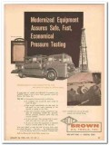 Brown Oil Tools Inc 1959 Vintage Ad Modernized Equipment Pressure Test
