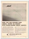 Aero Service Corp 1959 Vintage Ad Surveys Explore Radan-Guided Aerial