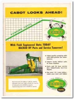 Cabot Shops Inc 1959 Vintage Ad Oil Field Pump Unit Franks Looks Ahead