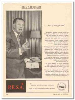 Continental Oil Company 1959 Vintage Ad Conoco President L F McCollum
