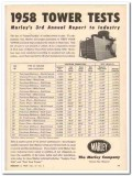 Marley Company 1959 Vintage Ad Oil Water Cooling Tower Tests Report