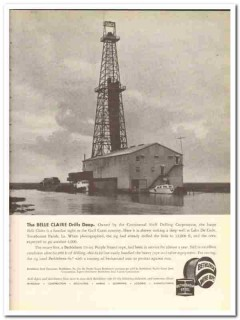 Continental Shelf Drilling Corp 1959 Vintage Ad Oil Field Belle Claire