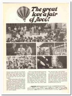avco broadcasting corp 1973 ohio state fair love affair vintage ad