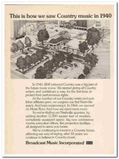 broadcast music inc 1973 bmi how we saw country in 1940 vintage ad