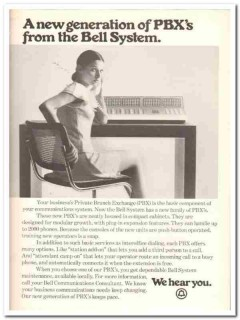 bell system 1973 generation pbxs business office telephone vintage ad