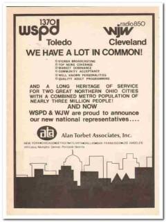 alan torbet associates 1973 wspd toledo wjw cleveland media vintage ad