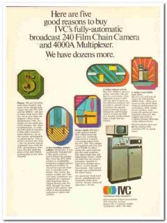 international video corp 1973 ivc-240 film chain camera vintage ad
