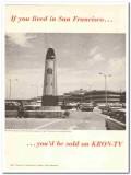 kron-tv 1973 benjamino bufano peace san francisco airport vintage ad