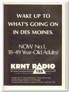 krnt radio 1973 des moines ia cowles communications station vintage ad