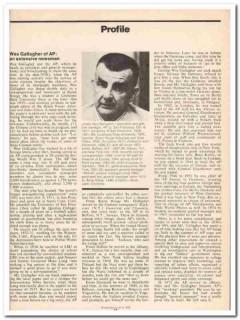 profile 1973 james wes gallagher ap associated press vintage article