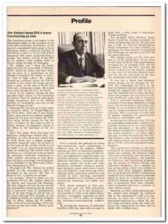 profile 1973 james adduci electronics industries assoc vintage article