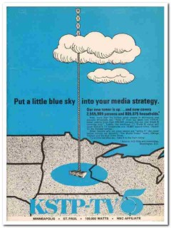 kstp tv 1973 minneapolis new tower blue sky media strategy vintage ad