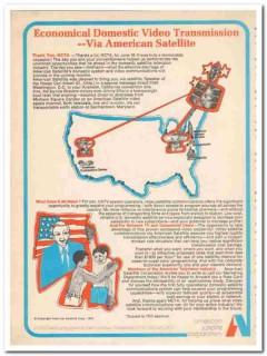 american satellite corp 1973 domestic video transmission vintage ad