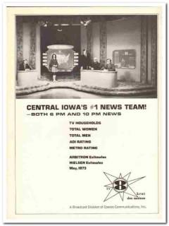 krnt tv 1973 des moines ia cowles communications news media vintage ad