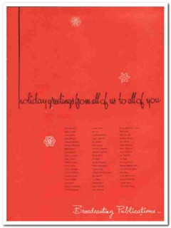 broadcasting publications inc 1973 holiday greetings media vintage ad